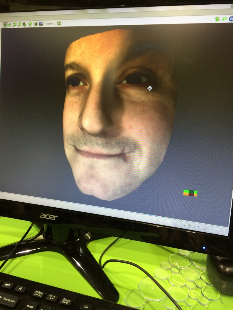 Fuel 3D of me at the 3D Printshow NYC 2014
