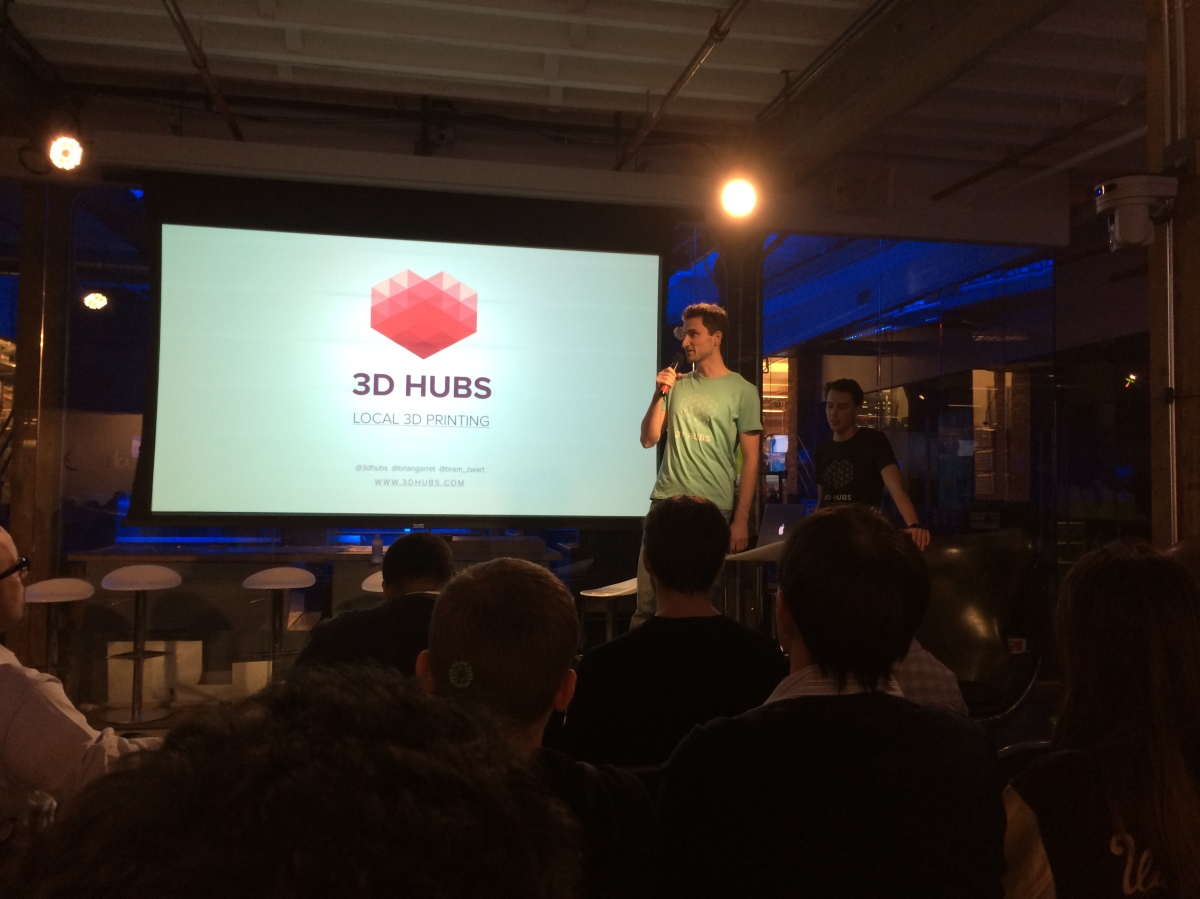 Brian Garret and Bram de Zwart, co-founder, 3D Hubs:  3D Hubs is world's largest platform connecting 3D printer owners with people who want to print. We are on a mission to make 3D printing truly local and accessible.
